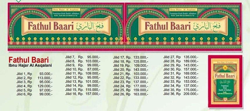 - Terjemahan Lengkap Kitab Fathul Bari - Terjemahan Lengkap Fathul Baari - Fathu al Bari - Ibnu Hajar Al Asqolani - Penerbit Pustaka Azzam