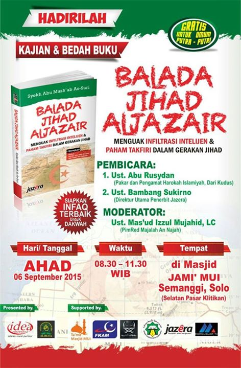 Kajian dan Bedah Buku Balada Jihad Aljazair - Penerbit Jazera - Ustadz Abu Rusydan - Ustadz Bambang Sukirno