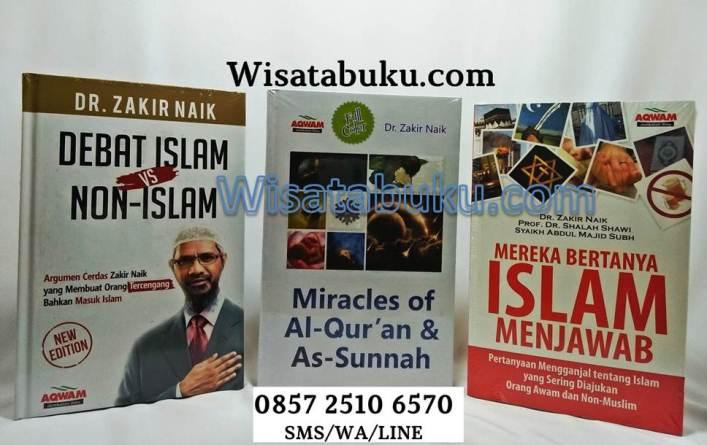 Jual Buku Paket Dr. Zakir Naik - Jual Buku Debat Islam vs Non Islam - Miracles Of Al Quran And As Sunnah - Mereka Bertanya Islam menjawab